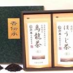 自然茶ギフト【烏龍茶80g&ほうじ茶80g】リーフ